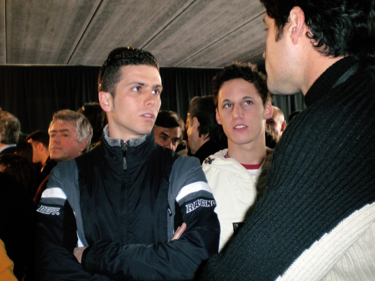 Joan Olivé and Pol Espargaró at the new Castellolí Parcmotor venue in Catalunya