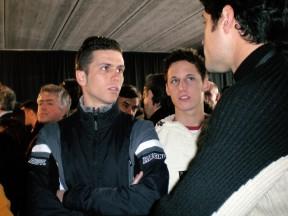 Joan Olivé and Pol Espargaró at the new Castellolí Parcmotor venue in Catalunya