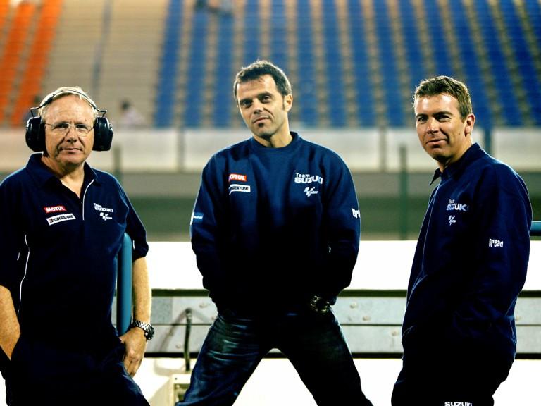 Suzuki´s Stuart Shenton, Loris Capirossi and Paul Denning