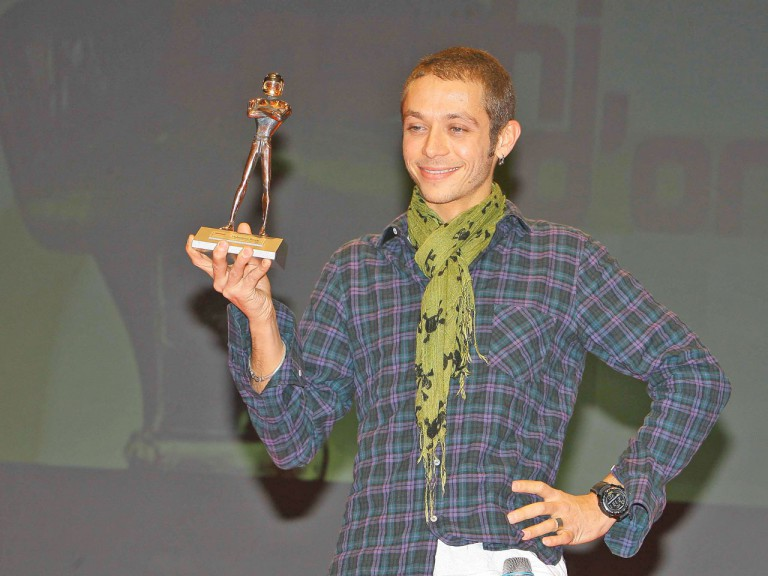 Valentino Rossi at Caschi d´Oro awards