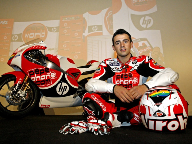 Héctor Barberá at the Pepe World Team presentation