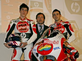 Axel Pons and Héctor Barberá with Sito Pons at the Pepe World Team Presentation