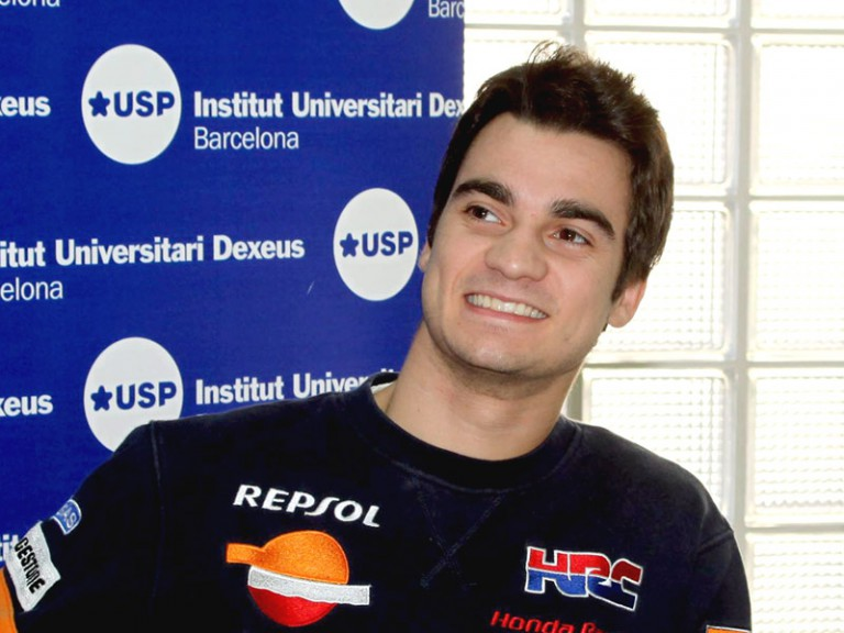 Dani Pedrosa at the USP Institut Universitari Dexeus in Barcelona