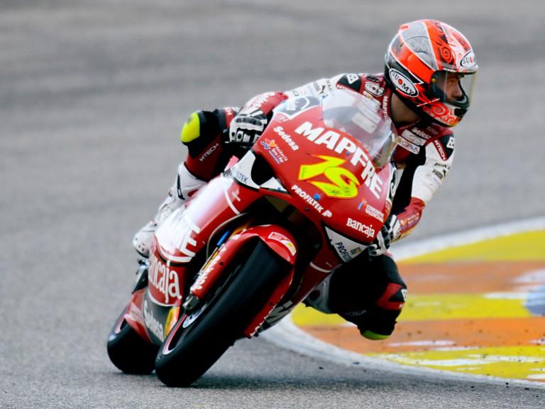 Alvaro Bautista on track