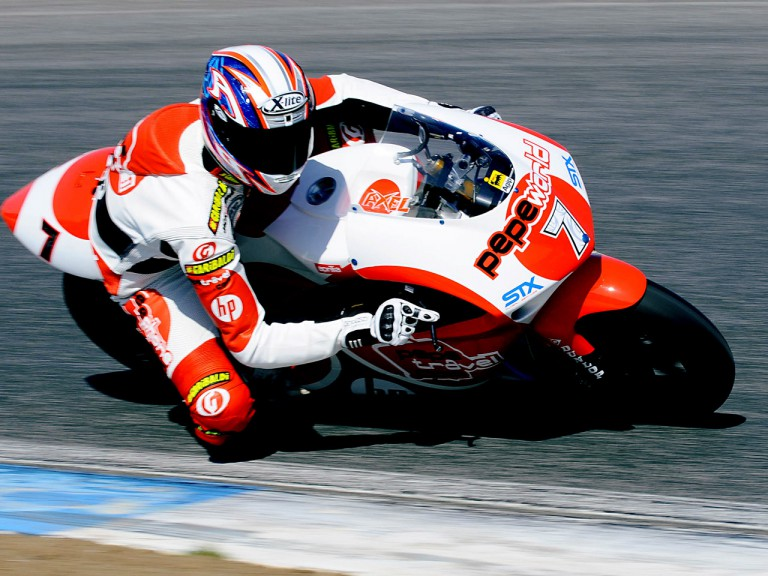 Axel Pons on track at the Estoril Test