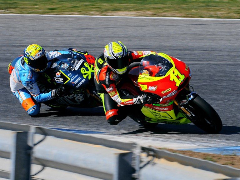Sandro Cortese and Sergio Gadea in action at Estoril Test
