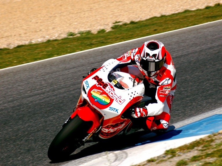 Héctor Barberá on track at Estoril Test