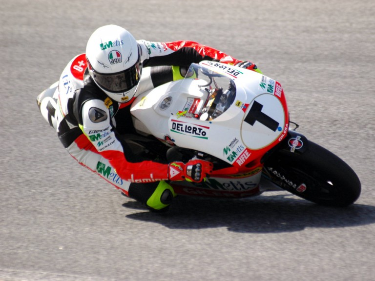 Marco Simoncelli at the Estoril test