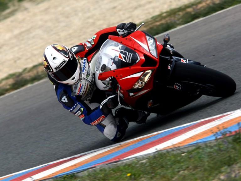 Randy de Puniet tests Bridgestone road tyres