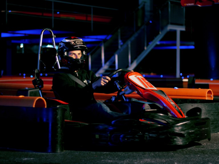 Jorge Lorenzo at karting promo event