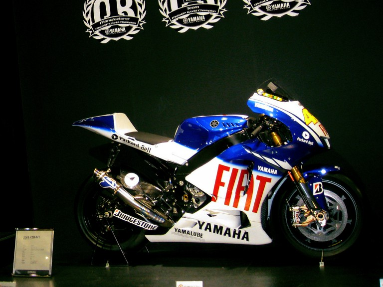 Rossi's M1 at Osaka Motorcycle show