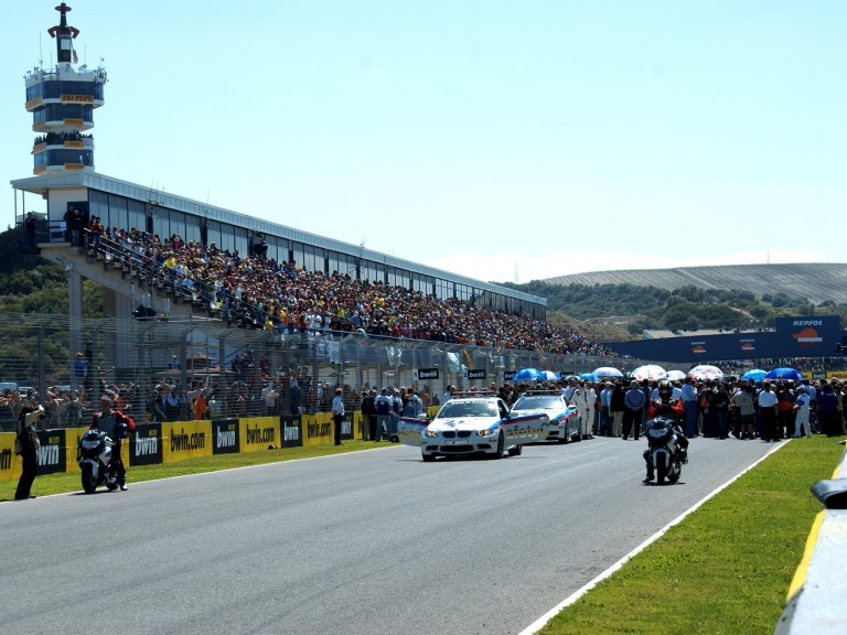 General view of Starting Grid at Jerez