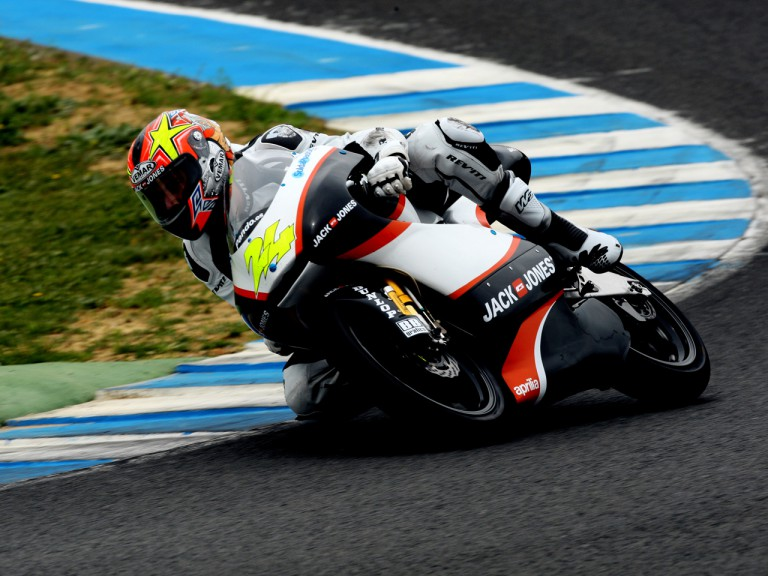 Simone Corsi in action at Official Test in Jerez