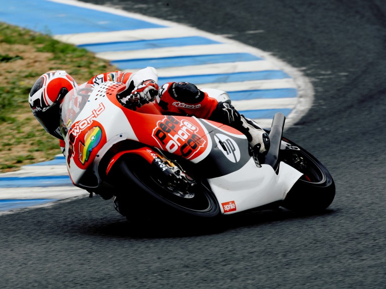Héctor Barberá on track at Official Test in Jerez