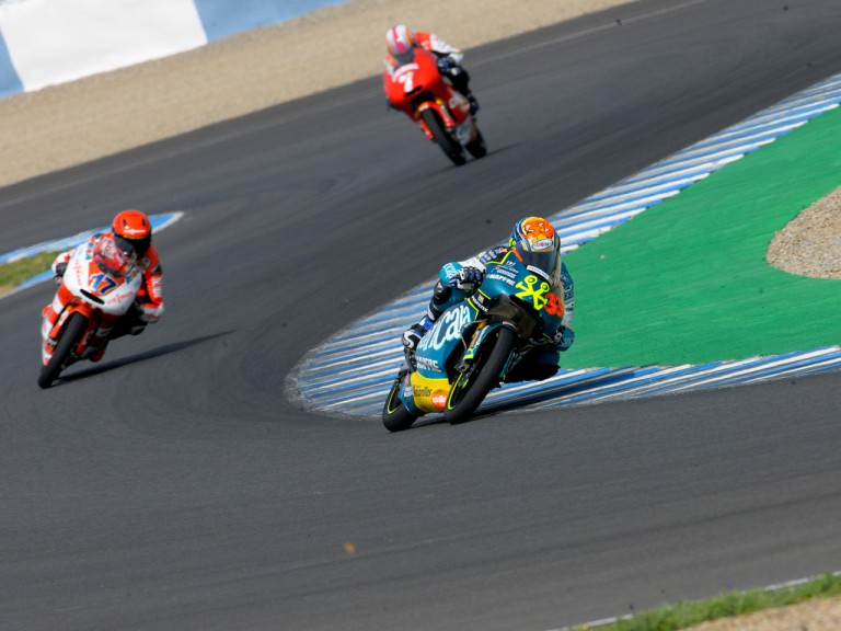 125cc Action at the Official Test in Jerez
