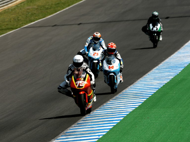 125cc Riders in action at Oficcial Test in Jerez
