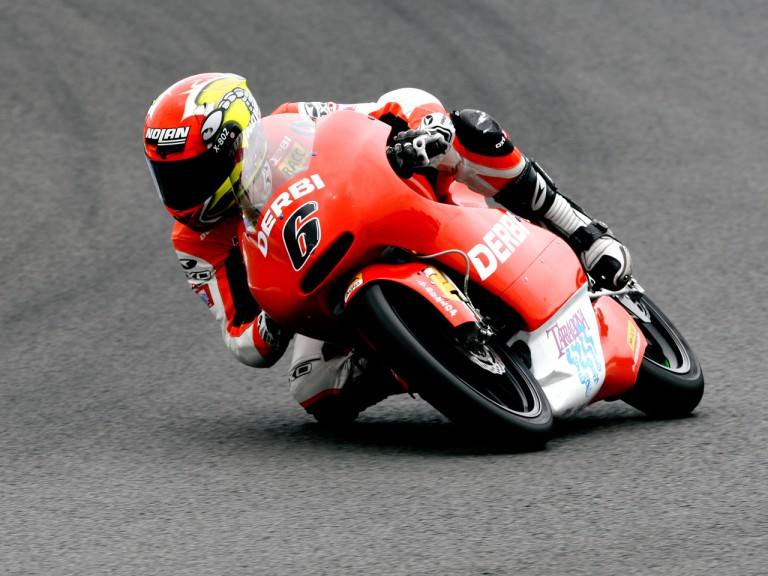 Joan Olive on track at the Official Test in Jerez