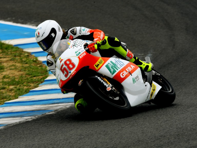 Marco Simoncelli on track at the Official Test in Jerez