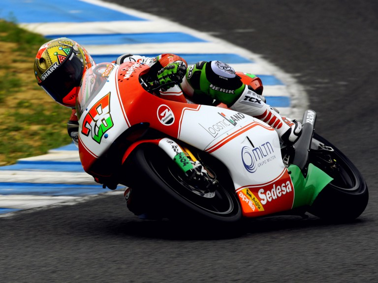 Gabor Talmacsi on track at the Official Test in Jerez