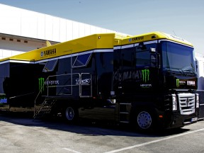 Monster Yamaha Tech3 truck at Jerez test