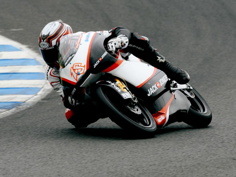 Nico Terol on track at the Official Test in Jerez