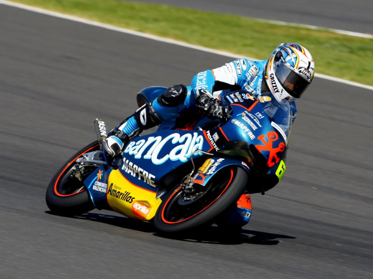 Julian Simon in action at Official MotoGP Test in Jerez