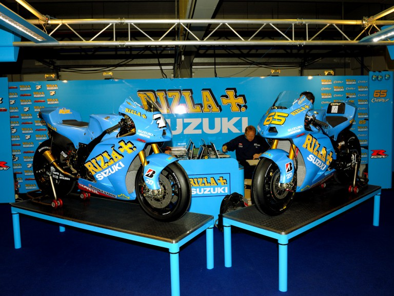 Rizla Suzuki bike unveiling in Jerez