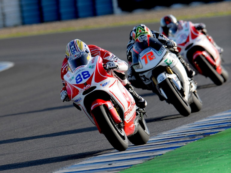MotoGP action at the Official MotoGP Test in Jerez