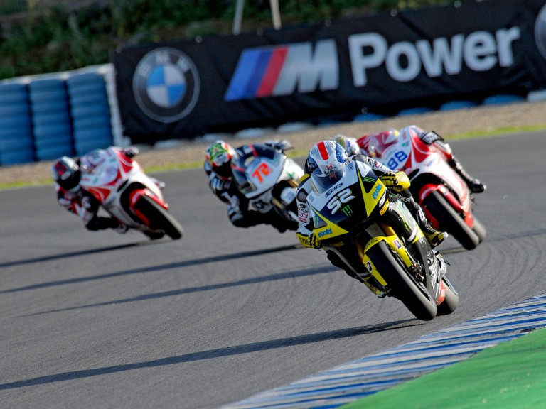 MotoGP group in action at the Official MotoGP Test in Jerez
