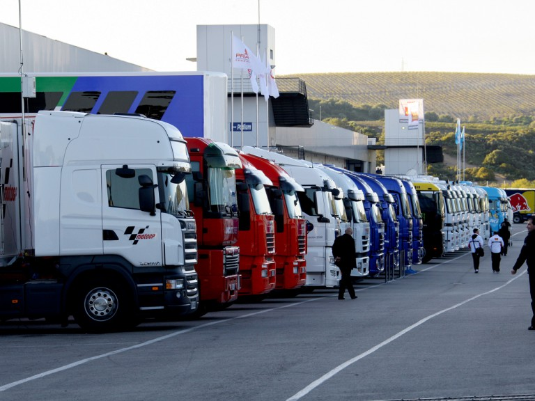 Paddock view at Jerez