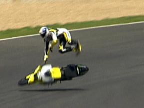James Toseland crash in MotoGP BMW M Award in Jerez
