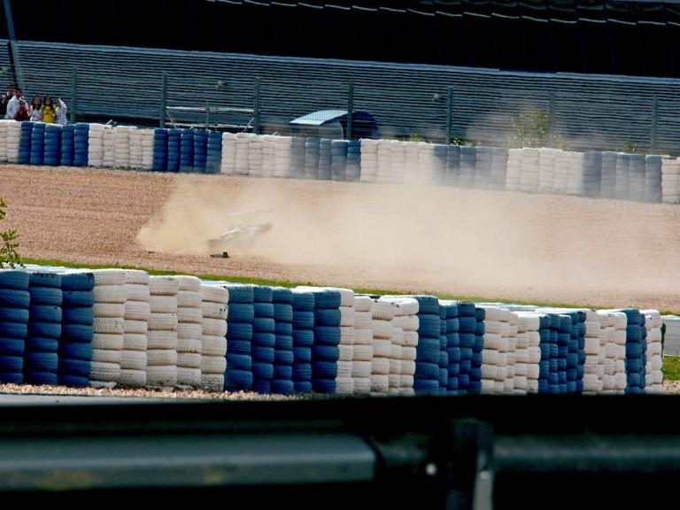 James Toseland crashes at Official MotoGP Test