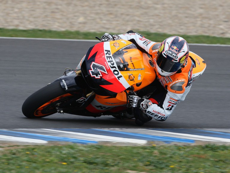 Dovizioso in action at Jerez track