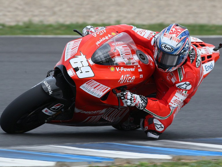 Hayden at Jerez track
