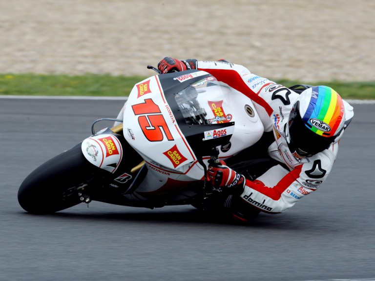 Alex de Angelis in action at the Official Test in Jerez