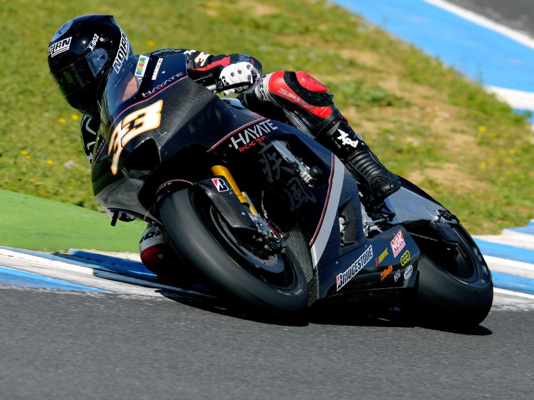 Marco Melandri on track at the Official MotoGP Test in Jerez