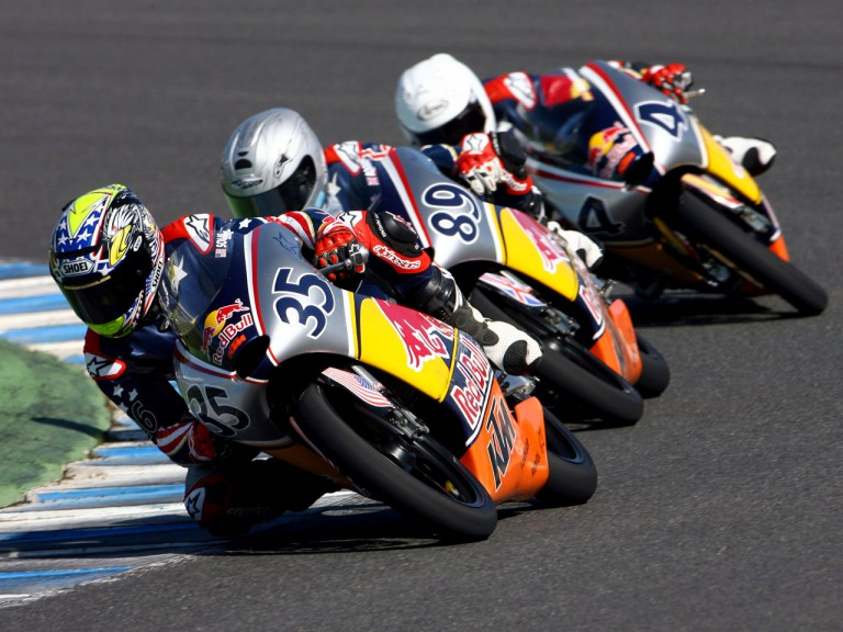 Red Bull MotoGP Rookies Cup riders in action