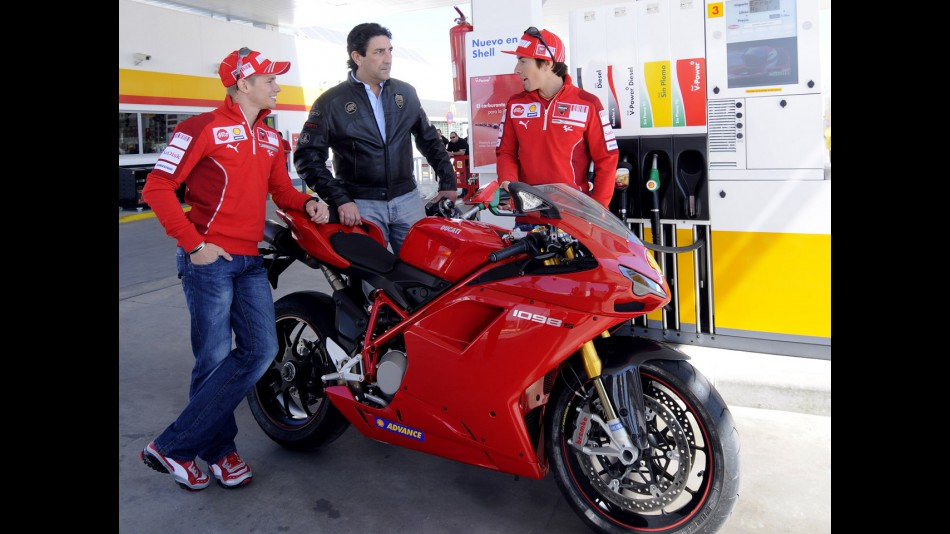 Behind the scenes at Shell Ducati photoshoot