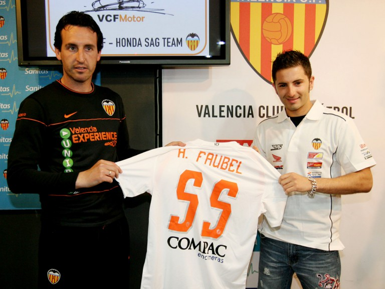Héctor Faubel Valencia CF Honda SAG Team official presentation