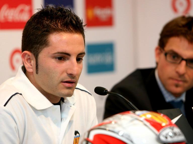 Héctor Faubel Valencia CF Honda SAG Team official presentation