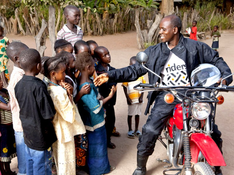 Riders for Health at work in Gambia