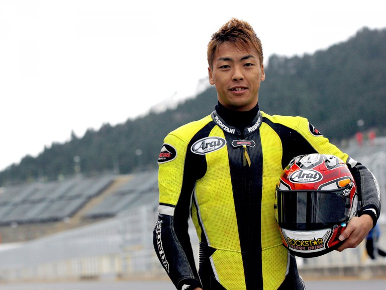 Motegi wild card rider Shuhei Aoyama