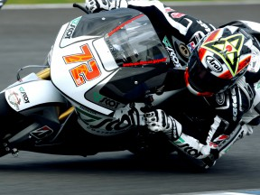 Yuki Takahashi on track at the Official MotoGP Test