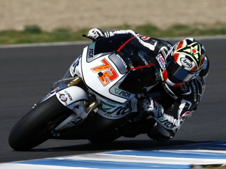 Yuki Takahashi at the Official MotoGP Test