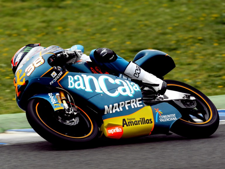 Bradley Smith in action at the Official Test in Jerez