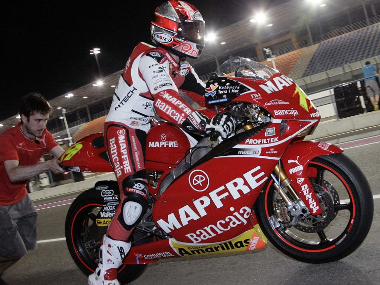 Bautista in action at Losail circuit