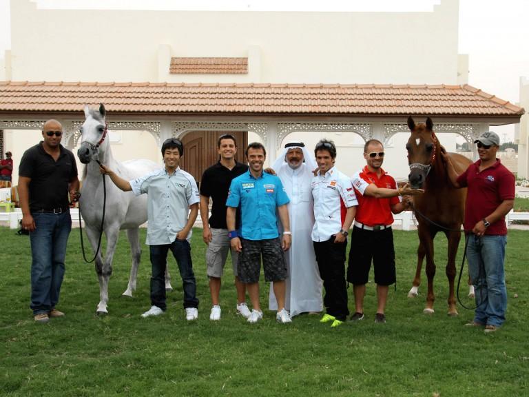 MotoGP riders with Arabian Horses in Qatar