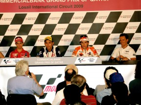 MotoGP Riders at the Commercial Bank Grand Prix of Qatar Press Conference