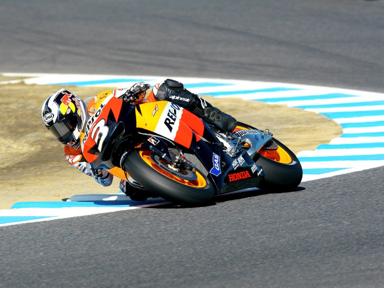 Dani Pedrosa in action in Motegi