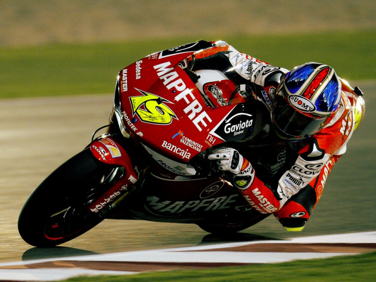 Alvaro Bautista in action at Losail Circuit
